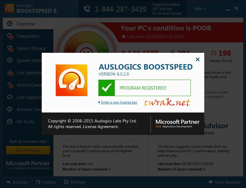 Auslogics BoostSpeed 10.0.17.0 License Key Crack Free Download