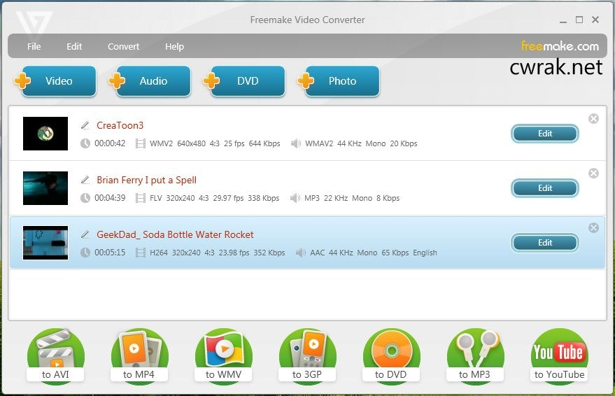 Freemake Video Converter 4.1.10.110 Crack Serial Key Free Download